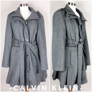 Calvin Klein Double breasted trench swing coat